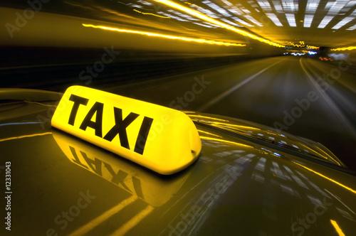 Tableau sur Toile Taxi rapide