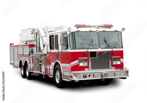 Canvas Print Fire Truck