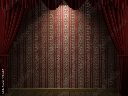 open theatre curtains
