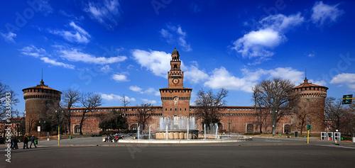 Fotografie, Obraz  Castello Sforzesco Milano