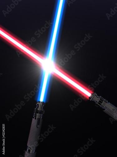 Crossed light sabers Poster Mural XXL