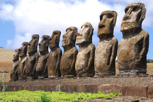 Ahu Tongariki - Easter Island Canvas Print