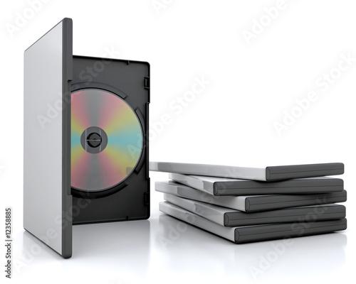 Fotomural dvd cases