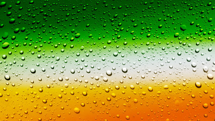 Panel SzklanyIrish flag on glass of beer with bubbles