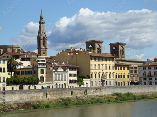 Naklejka premium pałace nad Arno we Florencji