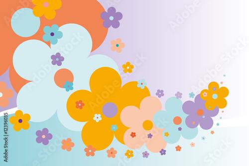 Poster Oiseaux, Abeilles spring_flowers_background_05