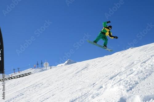 Poster Glisse hiver snow boarder