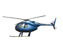 Small Blue Helicopter