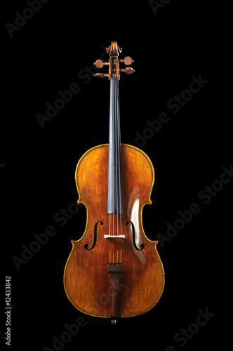 Fototapeta cello on a black background