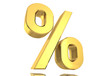 Prozentzeichen Gold