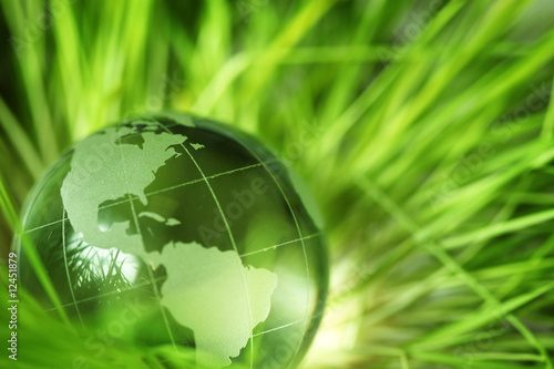 Glass earth in grass #12451879
