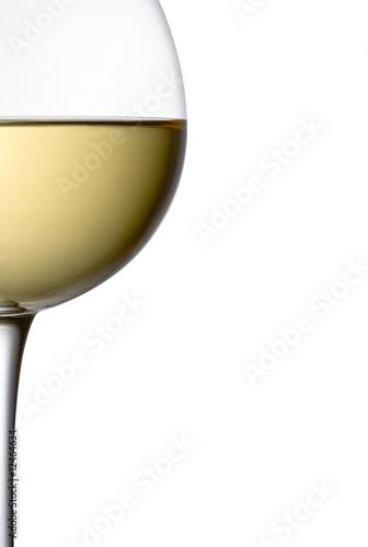 Foto coppa di vino bianco