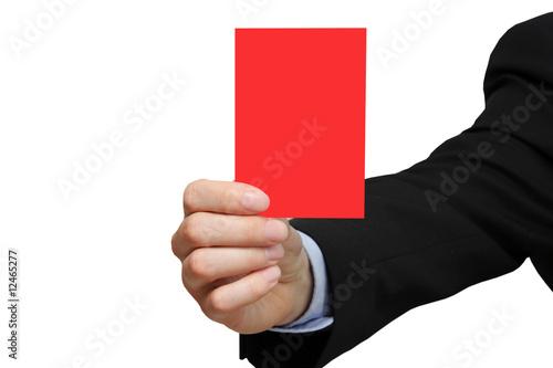Geschäftsmann zeigt rote Karte Wallpaper Mural