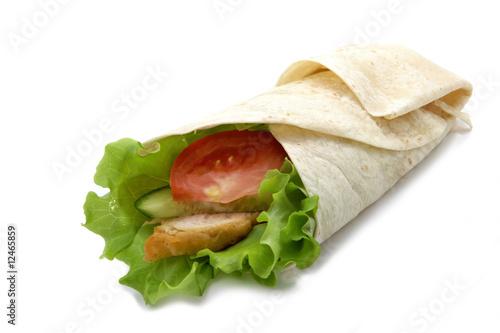 Fotografie, Obraz  Chicken twister with vegetables