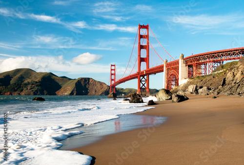 Photo sur Toile San Francisco Golden Gate Bridge, San Francisco
