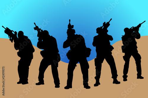 Deurstickers Militair soldier