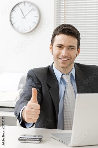 Fotografie, Obraz  Happy successful businessman