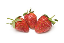 Strawberries Isolated On A Whi...