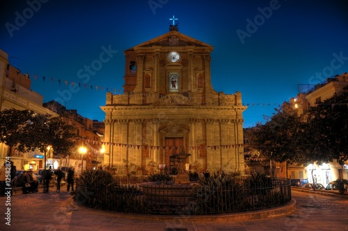 Chiesa Madrice Bagheria hdr Canvas Print
