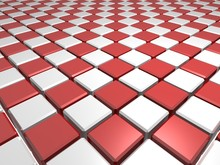 Red Chess Patterned Surface