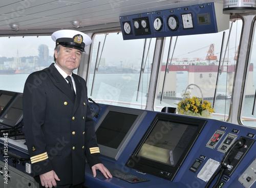 Fényképezés  Captain of the ocean ship