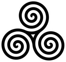 Tryskell Triple Spiral Symbol 010