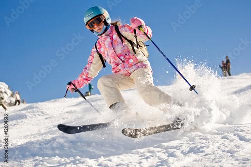 Fotografía  Descente ski enfant