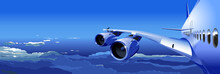Vector Airliner In The Sky