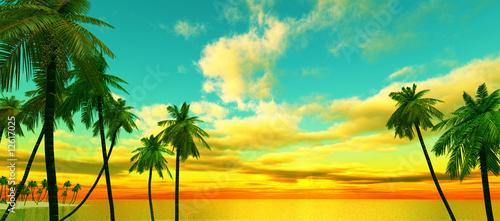 Foto op Aluminium Oranje Dream island