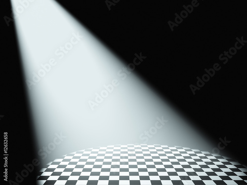 fototapeta na szkło Volumetric white light