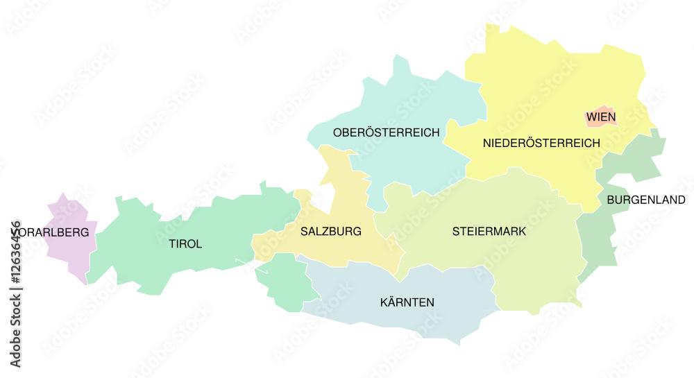 Gamesageddon Stock Osterreich Karte Der Bundeslander Farbig