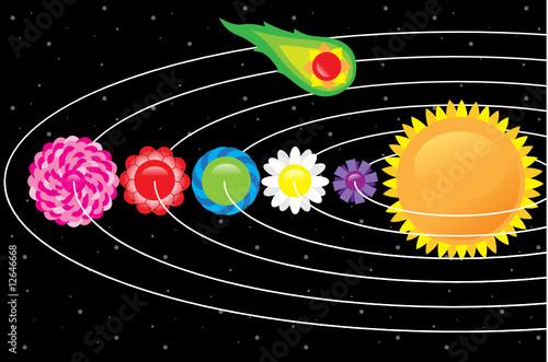 Foto op Canvas Kosmos space flower 1