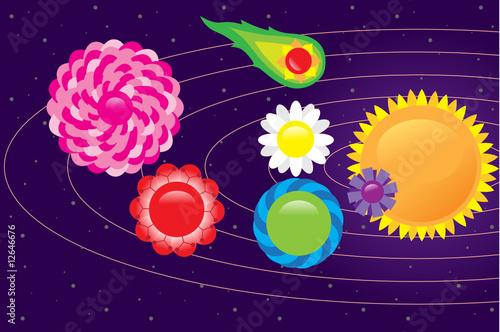Foto op Canvas Kosmos space flower 2