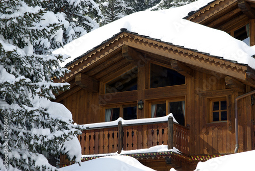 Fotografie, Obraz  Luxurious chalet detail