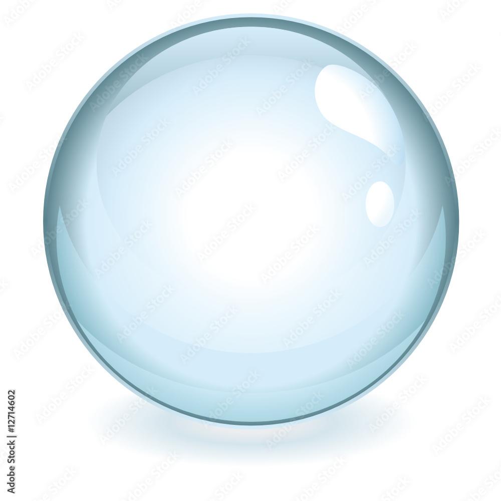 Fototapeta Sphère bleue transparente vectorielle
