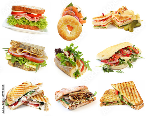 Fotobehang Snack Sandwiches Collection