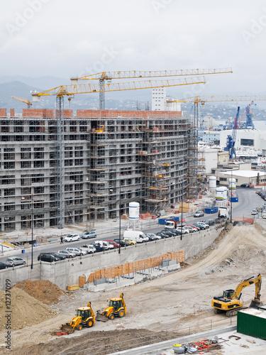 Foto op Plexiglas Construction work site