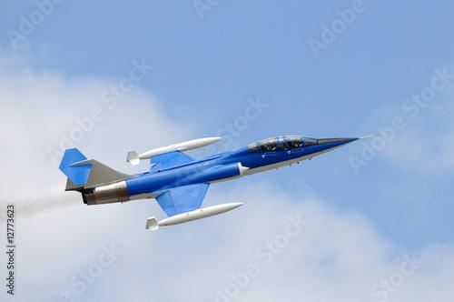 Photo  Blue jetfighter