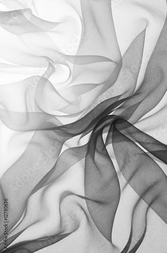 Obraz na plátně  black chiffon