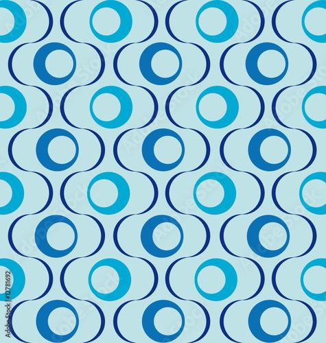 Muster Retro blau