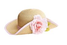 Pretty Straw Hat With Flower O...