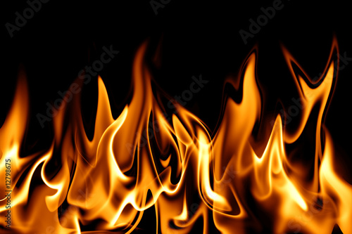 Photo sur Aluminium Flamme Feuer