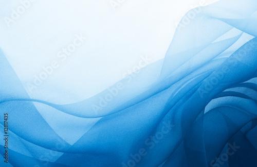 Obraz na plátně  blue chiffon