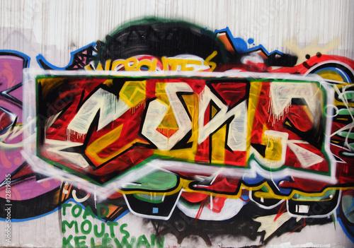 Foto op Aluminium Graffiti collage doodle