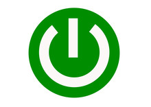 Green Power On Button