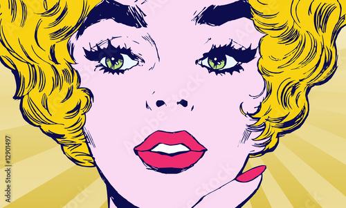 komiksowy-portret-blondynki