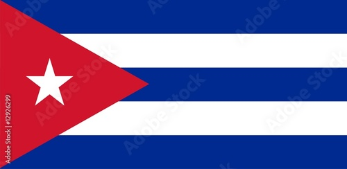 Flag of Cuba. Illustration over white background Canvas Print