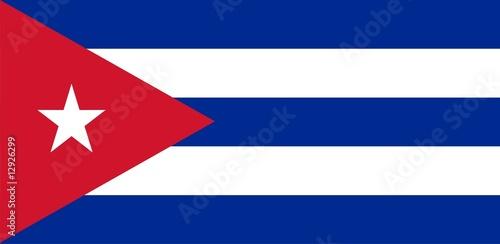 Flag of Cuba. Illustration over white background Wallpaper Mural