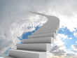 canvas print picture - Stairway to the sky
