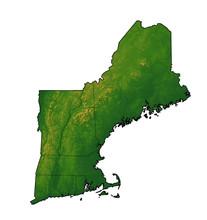 Northeastern USA Map With Terrain